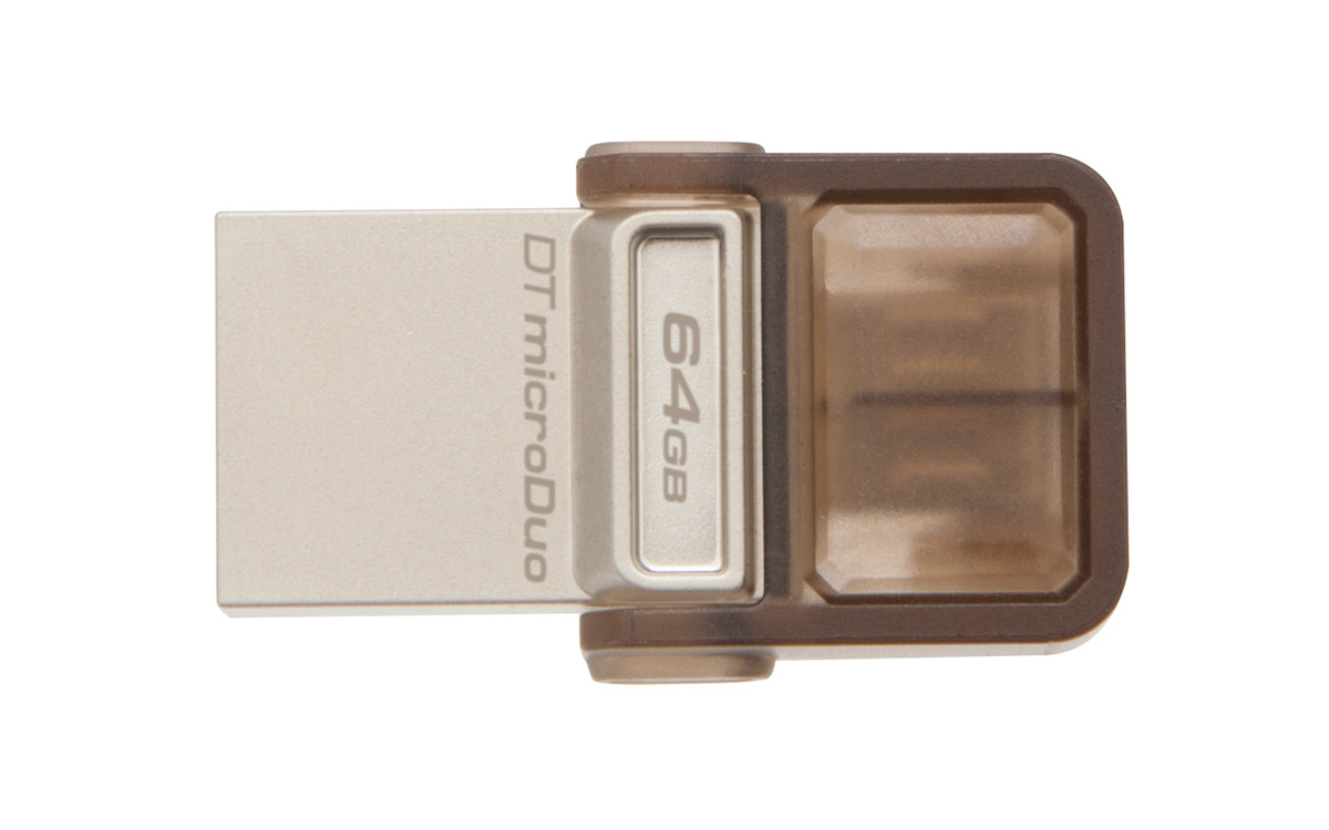 Kingston Technology DataTraveler microDuo OTG 64GB 64GB USB 2.0 Brown USB flash drive