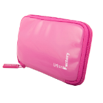 Urban Factory Vinyl Zipped Crazy Sleeve with Memory Foam for 2.5 Inch Hard Disk Drive, Pink (HDD14UF)