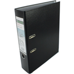 Leitz 180° Plastic Lever Arch File - Black Black ring binder