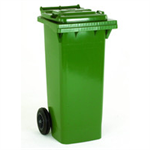 VFM REFUSE CONTAINER 140L 2 WHLD GRN 33 33
