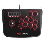 Mars Gaming MRA Fightstick PC, Playstation 2, Playstation 3 Negro, Rojo mando y volante