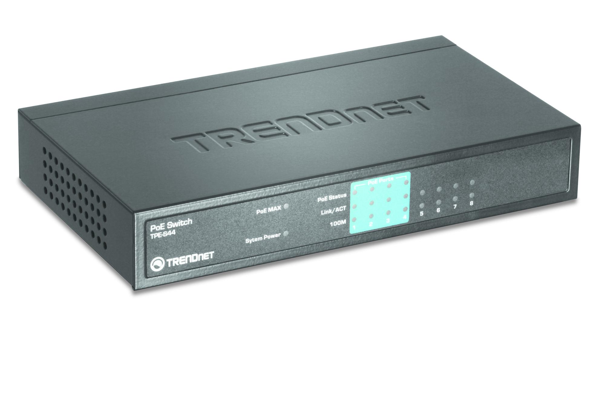 Trendnet TPE-S44 switch No administrado Azul Energía sobre Ethernet (PoE)