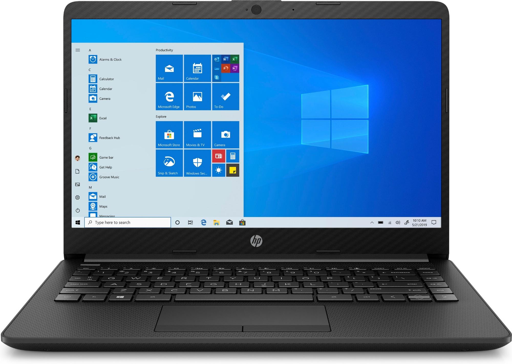 "HP 14-cf2502na Notebook 35.6 cm (14"") 1920 x 1080 pixels 10th gen Intel® Core™ i5 4 GB DDR4-SDRAM 256 GB SSD Wi-Fi 5 (802.11ac) Windows 10 Home Black"