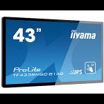 "iiyama TF4338MSC-B1AG signage display Interactive flat panel 108 cm (42.5"") LED Full HD Black Touchscreen"
