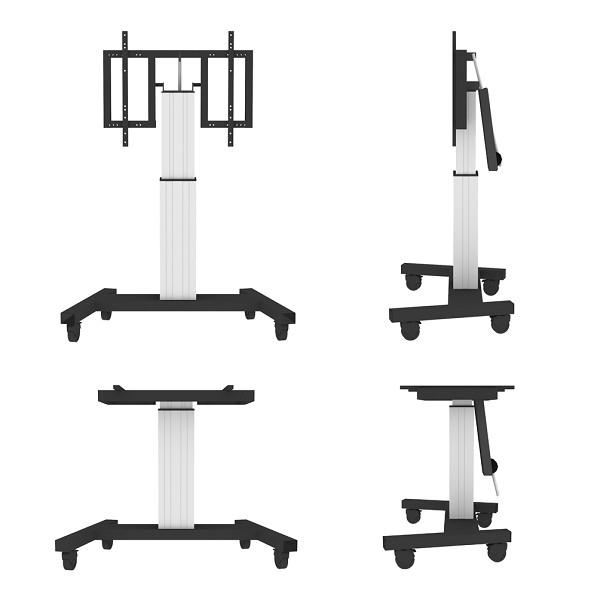 "Newstar PLASMA-M2500TSILVER 100"" Portable flat panel floor stand Silver flat panel floorstand"