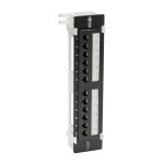 Tripp Lite Cat6 Wall-Mount 12-Port Patch Panel - PoE+ Compliant, 110/Krone, 568A/B, RJ45 Ethernet