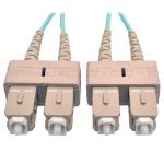 Tripp Lite 10Gb Duplex Multimode 50/125 OM3 LSZH Fiber Patch Cable (SC/SC) - Aqua, 2M