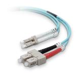"Belkin LC/SC 50/125µm 10Gb 5m fiber optic cable 196.9"" (5 m) OM3 Blue"