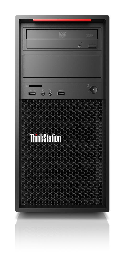 Lenovo ThinkStation P520c Intel Xeon W W-2225 16 GB DDR4-SDRAM 512 GB SSD Tower Black Workstation Windows 10 Pro for Workstations