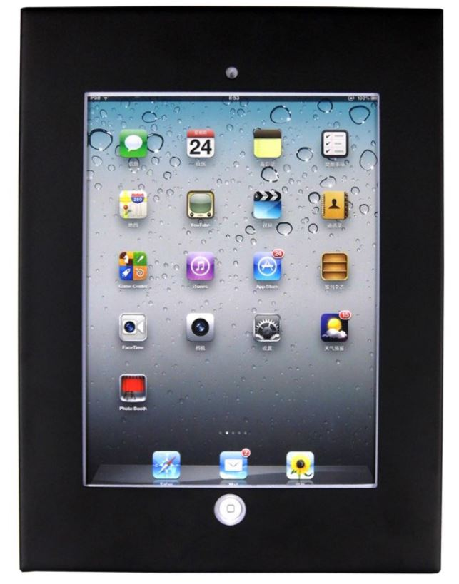 Brateck Wall Mount Anti Theft Secure Enclosure for iPad 2, iPad 3, iPad 4, iPad Air & iPad Air 2 - Black