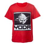 Star Wars Kids Boys Yoda Framed Closeup T-Shirt, 86/92, Red (TSY19614STW-86/92)