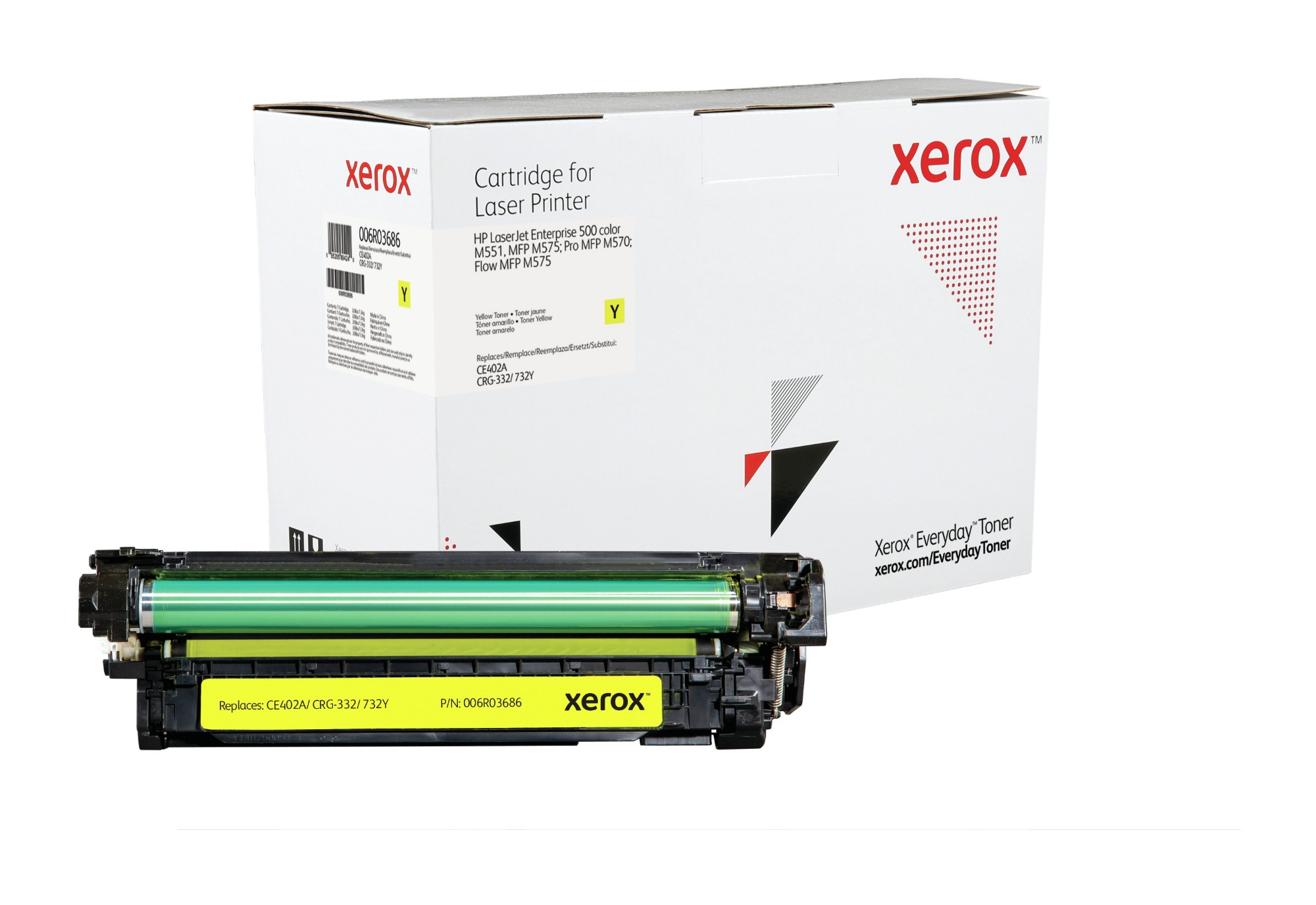 Xerox Tóner Amarillo Everyday, HP CE402A equivalente de , 6000 páginas