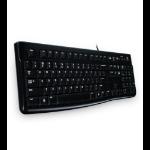 Logitech K120 keyboard USB QWERTY Russian Black 920-002522