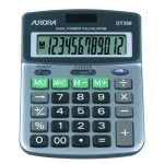 Aurora DT398 Desktop Financial calculator Grey calculator