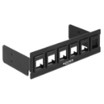 "DeLOCK 86273 5.25"" I/O ports panel Black drive bay panel"