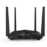 Tenda AC10U router inalámbrico Doble banda (2,4 GHz / 5 GHz) Ethernet rápido Negro