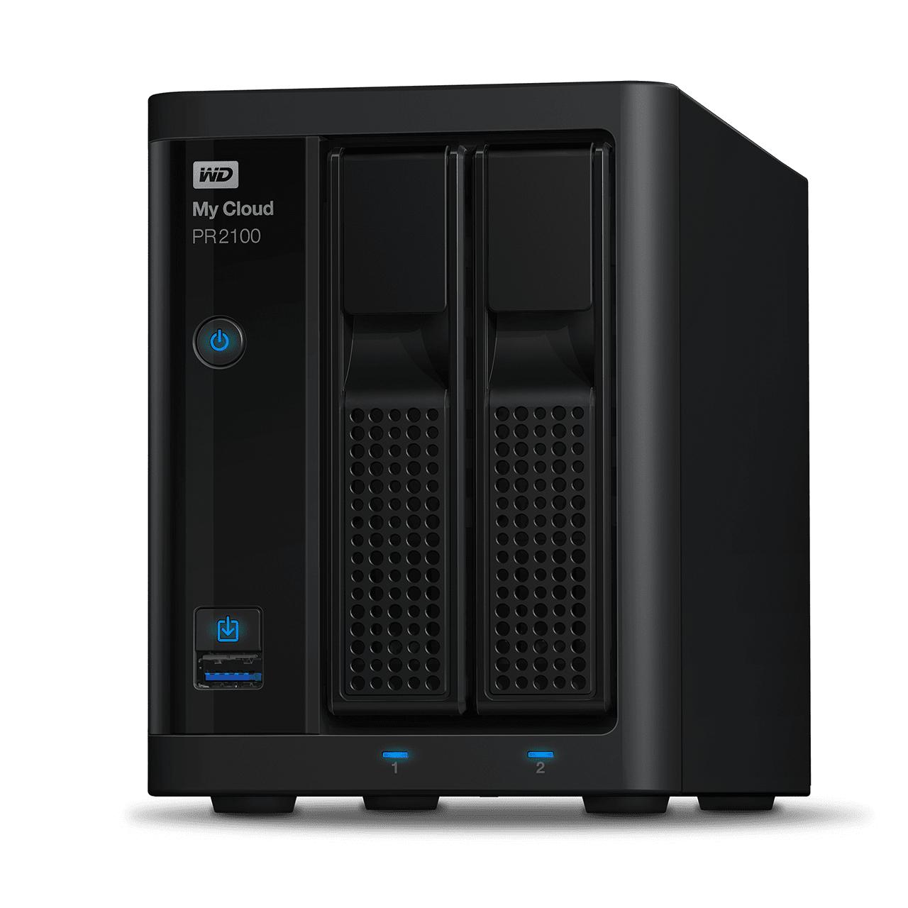 Western Digital My Cloud Pro PR2100 N3710 Ethernet Escritorio Negro NAS
