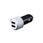 JustMobile CC-128S Auto Black, Silver mobile device charger