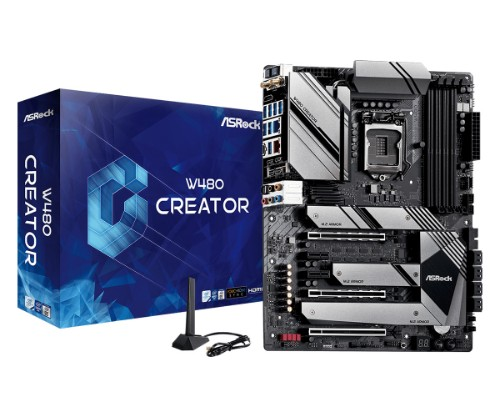 Asrock W480 CREATOR motherboard Intel W480 LGA 1200 ATX