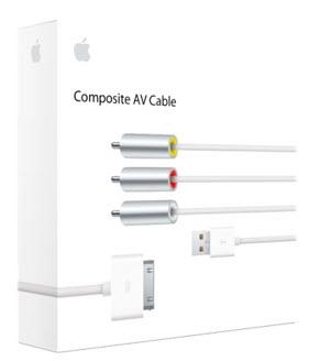 Apple Composite AV Cable - White (MC748ZM/A)
