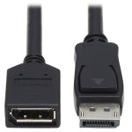 Tripp Lite DisplayPort Extension Cable with Latch, 4K x 2K (3840 x 2160) @ 60 Hz, HDCP 2.2 (M/F), 1.83 m