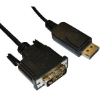 Videk DisplayPort/DVI-D 3 m Black