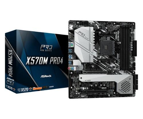 Asrock X570M Pro4 AMD X570 Socket AM4 micro ATX