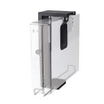 Newstar Lockable Under Desk PC Mount (Suitable PC Dimensions - Height: 20-36 cm / Width: 5-10 cm) - Black