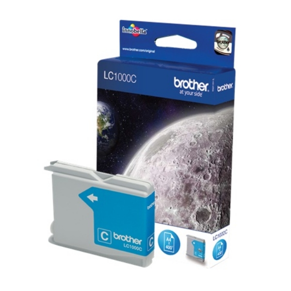 Brother LC-1000C Ink cartridge cyan, 400 pages @ 5% coverage, 8ml