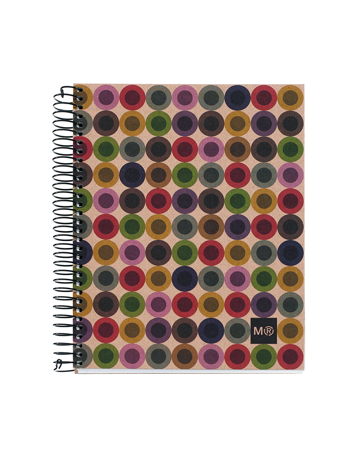MIQUELRIUS NOTE BOOK MILQUELRIUS 100% RECYL 240PG A5 7MM RULED HARDCOVER BUTTON(PK5)