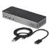StarTech.com Dock USB-C y USB-A - Docking Station Híbrida Universal para Tres Monitores DisplayPort y HDMI 4K de 60Hz - Replicador de Puertos con 85W de Entrega de Alimentación - Hub Ladrón USB de 6 Puertos - USB 3.1 Gen 2 de 10Gbps