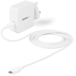 StarTech.com USB C Wall Charger - 60W PD 1m cable - Portable USB Type C Fast Charger - Universal Adapter Dell XPS, Lenovo X1 Carbon, HP Elitebook, Macbook Surface Pro 7 - USB IF/CE Certified