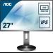 "AOC Pro-line Q2790PQU/BT computer monitor 68,6 cm (27"") 2560 x 1440 Pixels Quad HD LED Flat Mat Zwart"