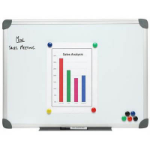 NOBO WHITEBOARD WALL MOUNTED ALUMINIUM FRAME MAGNETIC 1200X1800MM