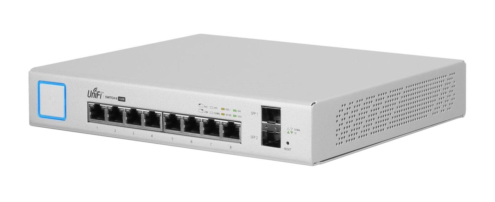 Ubiquiti Networks UniFi US-8-150W network switch Managed Gigabit Ethernet (10/100/1000) White Power over Ethernet (PoE)