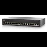 Cisco Small Business SG110-16 Unmanaged L2 Gigabit Ethernet (10/100/1000) 1U Schwarz