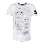 Star Wars A New Hope TK-421 Imperial Army Helmet Grid View T-Shirt, Male, Medium, White (TS748114STW-M)