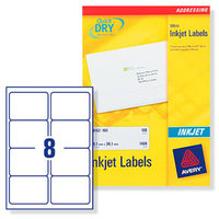 Avery J8165-25 addressing label White