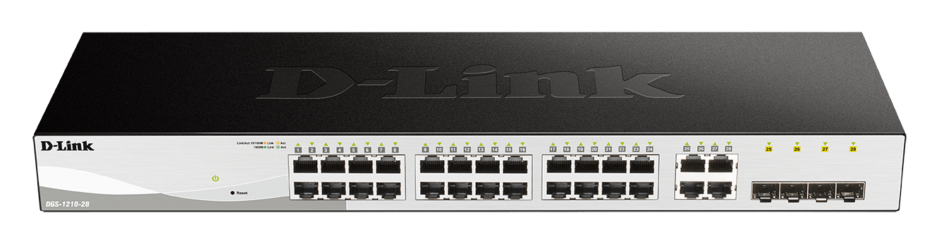 D-Link DGS-1210-28 switch Negro 1U