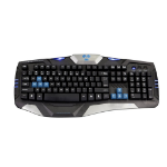 E-blue Combatant-EX USB QWERTY Black,Blue keyboard