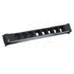 Bachmann 909.0027 power extension 3 AC outlet(s) Indoor Black, Grey