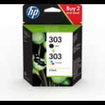 HP 3YM92AE (303) Printhead cartridge multi pack, 4ml, Pack qty 2