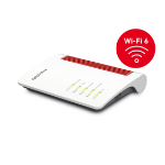 AVM FRITZ!Box 7530 AX draadloze router Gigabit Ethernet Dual-band (2.4 GHz / 5 GHz) Rood, Wit
