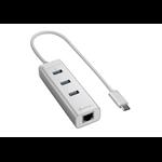 Sharkoon 4044951019021 USB 3.1 (3.1 Gen 2) Type-C 5000Mbit/s Silver interface hub