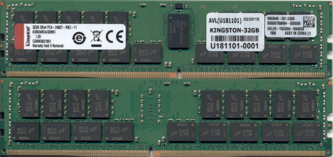 Kingston Technology KSM24RD4/32MEI módulo de memoria 32 GB 1 x 32 GB DDR4 2400 MHz ECC