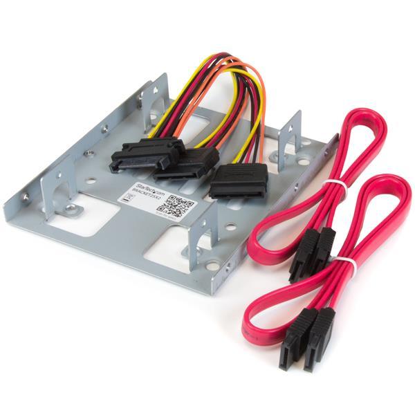 "StarTech.com Bracket Adaptador Bandeja de Montaje 2 Unidades de Disco Duro HDD de 2,5"" a Bahía de 3,5 Pulgadas"