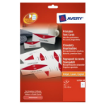 Avery L4796-20 White Paper non-metallic nameplate