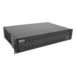 Tripp Lite 32-Port USB Charging Station with Syncing, 230V, 5V 80A (400W) USB Charger Output, 2U Rack-Mount