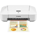 Canon PIXMA iP2850 Inkjet 4800 x 600DPI White photo printer