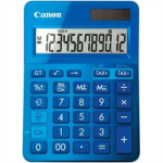 CANON LS-123M CALCULATOR 12 DIGIT DUAL POWER METALIC BLUE
